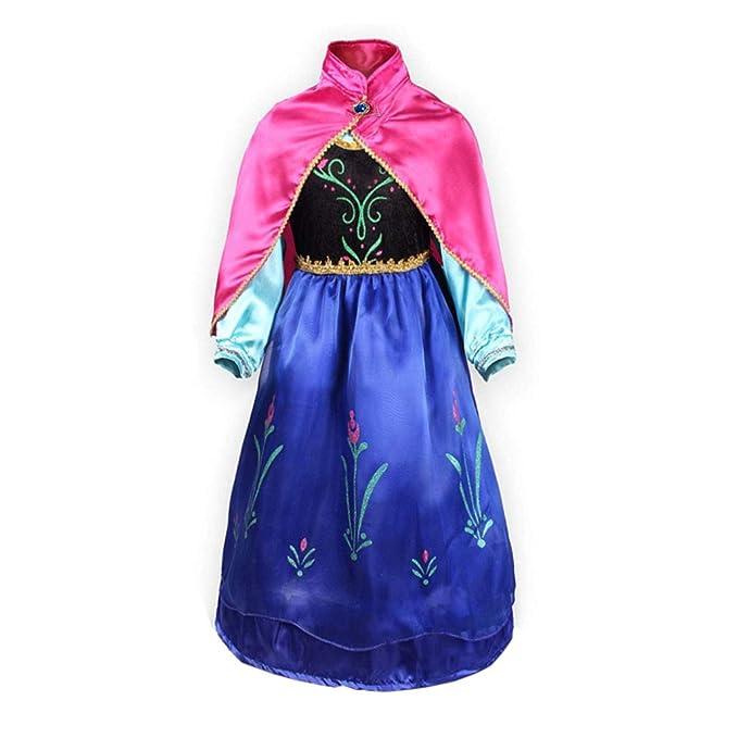 FONLAM Disfraz de Princesa Vestido de Fiesta Niña Traje de Ceremonia Infantil Carnaval