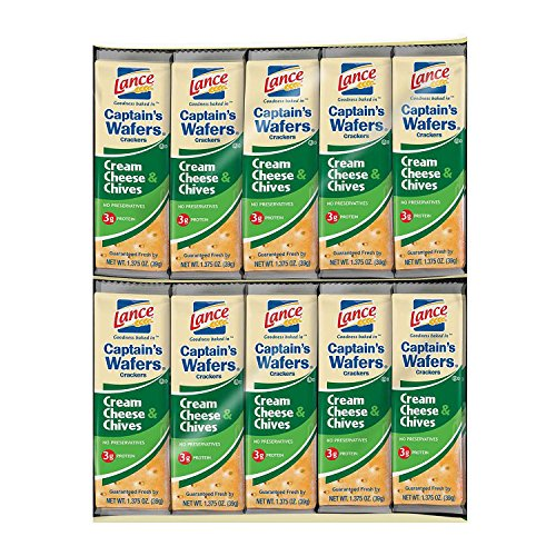 Product of Lance Captain's Wafers Cream Cheese & Chives Crackers (40 ct.) - Crackers [Bulk Savings] pack of -