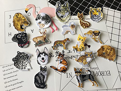 Foreign trade of high-end custom embroidery dog ??animal pet cat brooch lions and tigers leopards deer brooch pin ()