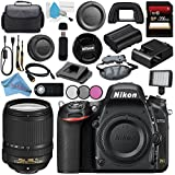 Nikon D750 DSLR Camera 1543 AF-S DX 18-140mm f/3.5-5.6G ED VR Lens 2213 + 67mm 3 Piece Filter Kit + Carrying Case + 256GB SDXC Card + Professional 160 LED Video Light Studio Series Bundle