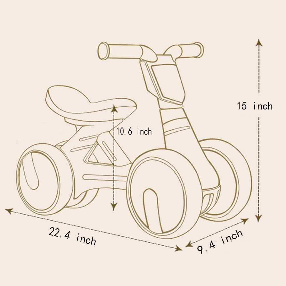 Baby-Balance Fahrrad,Ausgleichende lauflernhilfe Kind Geburtstagsgeschenk Vier rollschuhlaufen-Blau 20.4Zoll