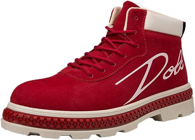 LuckyGirls Botas para Hombre Botitas Zapatillas Casual Calzado Deportivo Bambas de Hombre Zapatos de Trabajo Cargo: Amazon.es: Deportes y aire libre