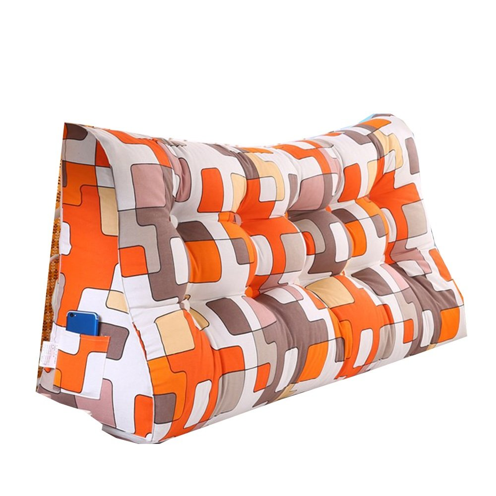 クッション 三次元三角クッションコットンキャンバスウエストダブルベッドソフトケース大型ベローズベッドバックレストウォッシャブル 枕 (色 : 02, サイズ さいず : 200cm) B07F5VWR4G 200cm|02 2 200cm