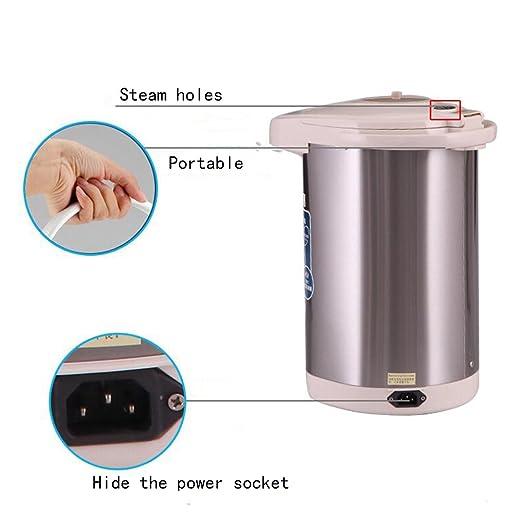 XUEQIN Hervidores y dispensadores de Agua Caliente Calentador eléctrico Consola Inteligente Protección del Medio Ambiente Salud Ahorro de energía 5L 1200W ...
