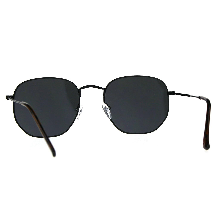 Amazon.com: Gafas de sol clásicas de moda con marco de metal ...