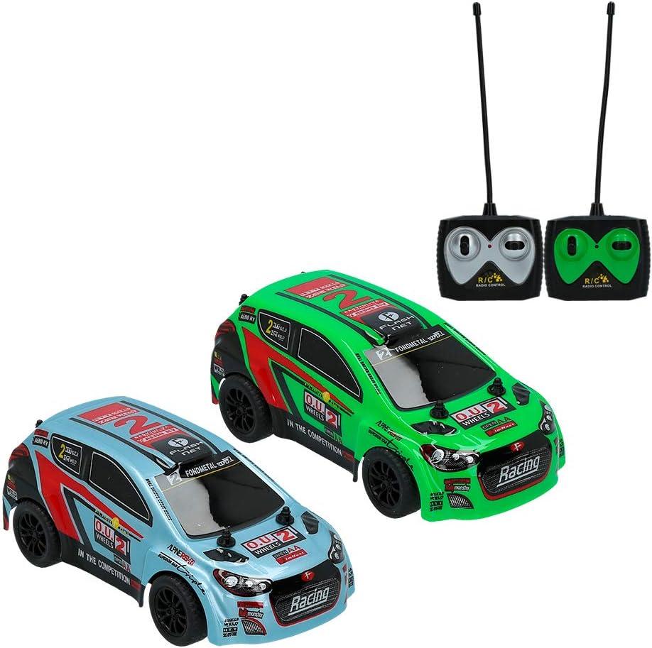 ColorBaby -  Set 2 coches radiocontrol Speed&Go, Escala 1:26, Blanco y Verde (85348)