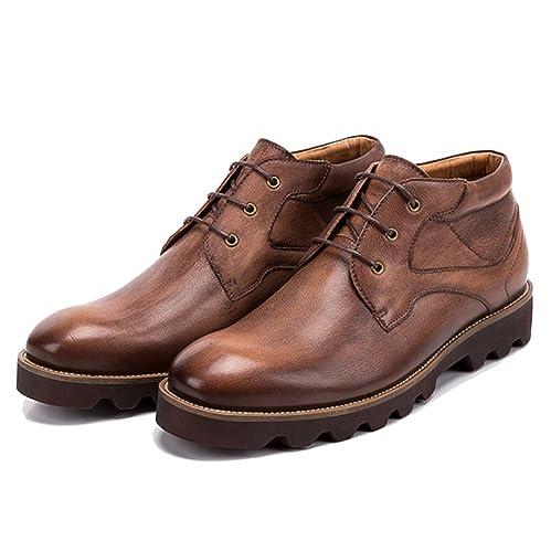 LYZGF Botines De Otoño para Hombres Botines De Cuero Británicos De Moda Casual: Amazon.es: Zapatos y complementos