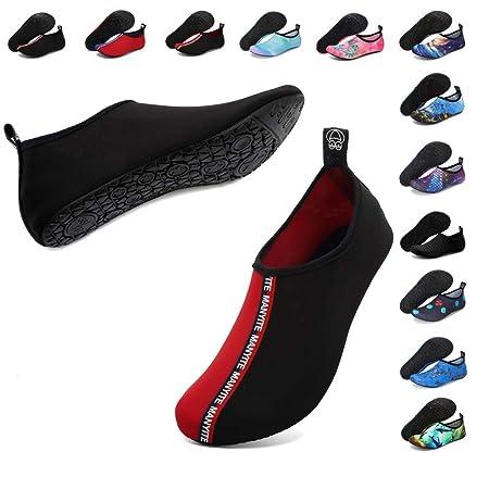 EUYOUZI Aqua Socks Water Shoes Barefoot Yoga Socks Quick-Dry ...