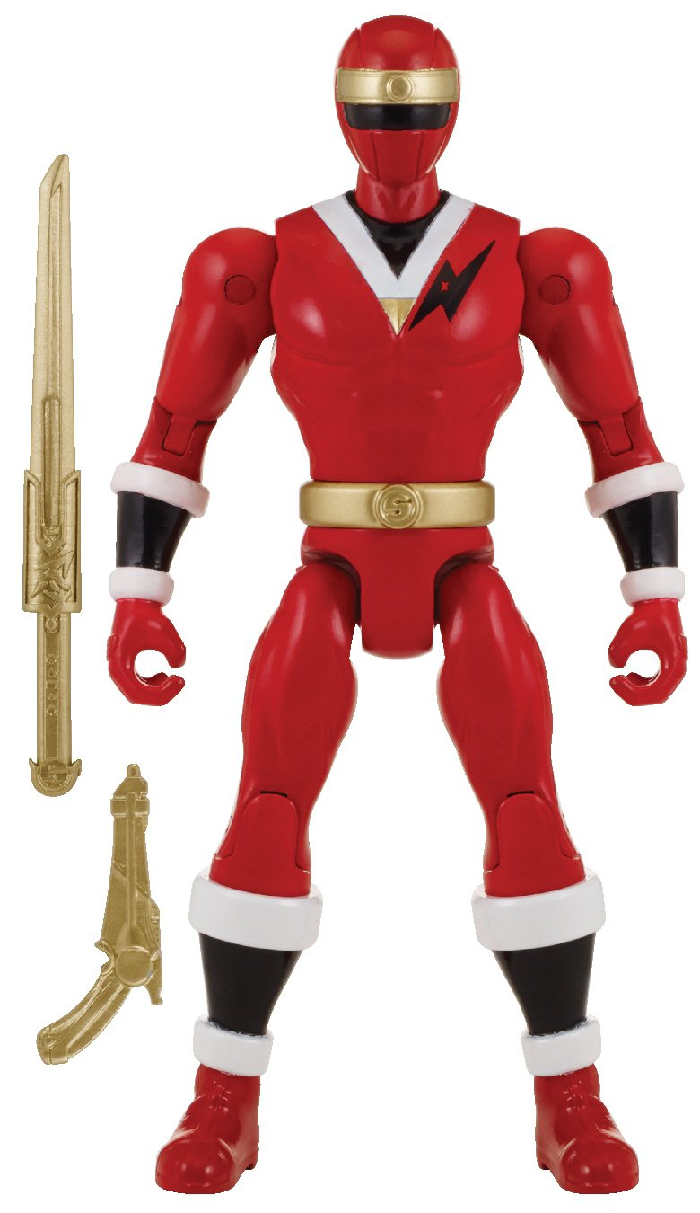 Power Rangers Super Megaforce 5 Mighty Morphin Alien Red Ranger Action Hero Bandai 38214