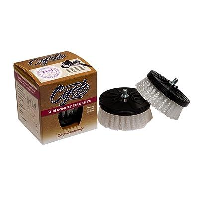 Cyclo (76-840x2-2PK) Shampoo Brush with White Soft Bristles, (Pack of 2): Automotive