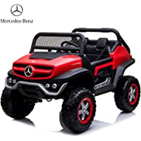 Dorsa Mercedes Benz Ride On Car, Red, Unimog Jeep-Red