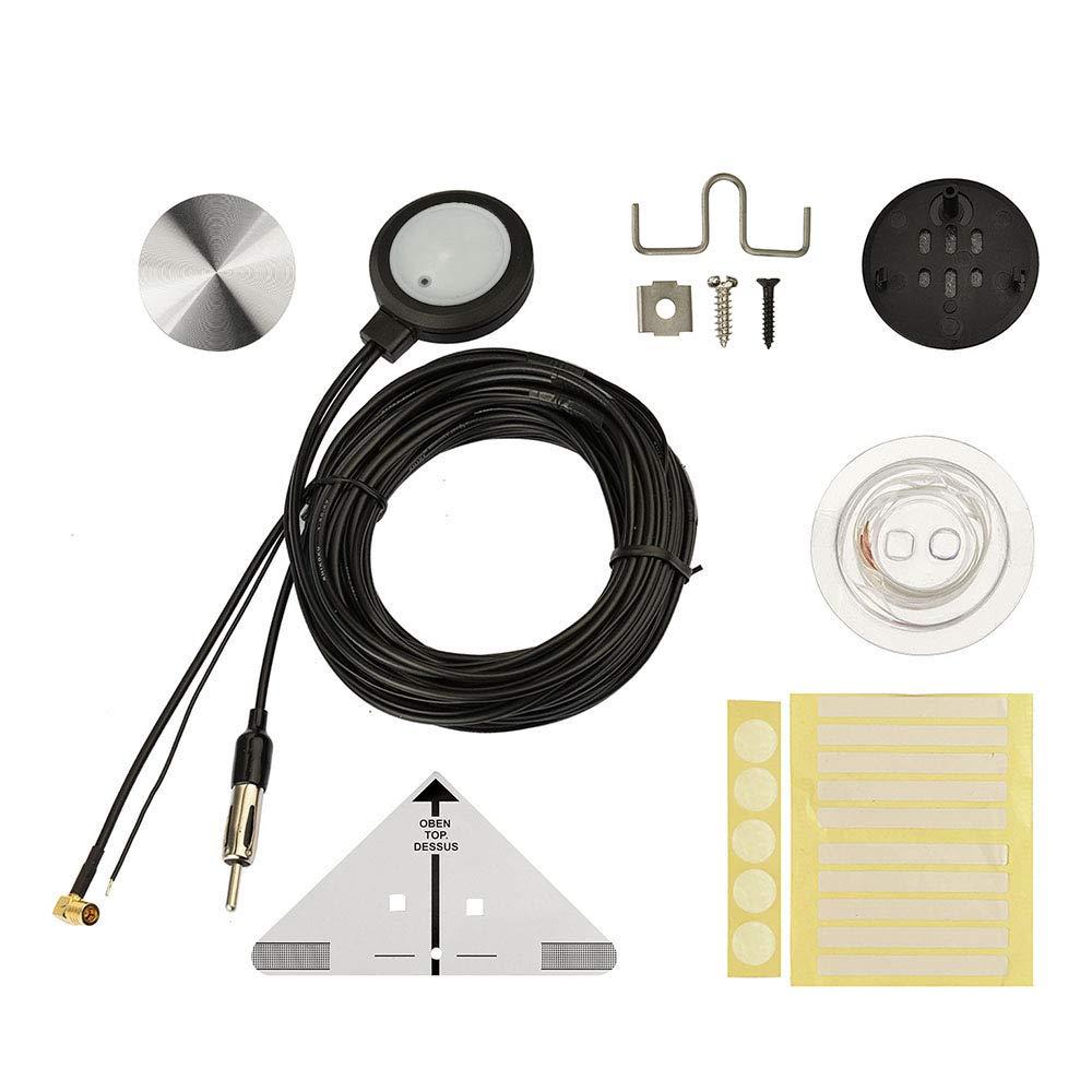 Antenne Autoradio Antennensplitter SMA Adapter DIN Stecker f/ür DAB Antenne Blaupunkt Beat TechniSat Pioneer Sony Kenwood Alpine MEHRWEG Eightwood DAB