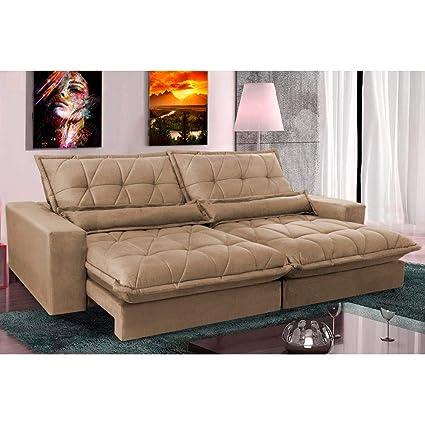 Enjoyable Sofa Retratil E Reclinavel Com Molas Ensacadas Cama Inbox Evergreenethics Interior Chair Design Evergreenethicsorg