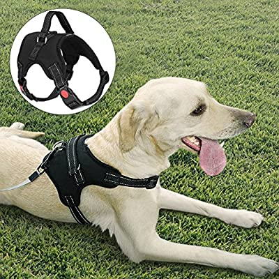 LOETAD Dog Harness Adjustable Dog Vest Harness Handle Soft Reflective No Pull Pet Harness Dogs