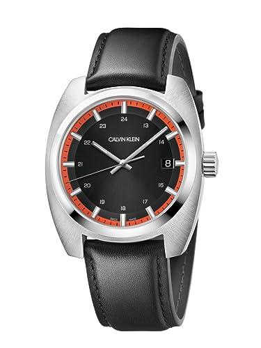Calvin Klein Reloj Analógico para Hombre de Cuarzo con Correa en Cuero K8W311C1: Amazon.es: Relojes