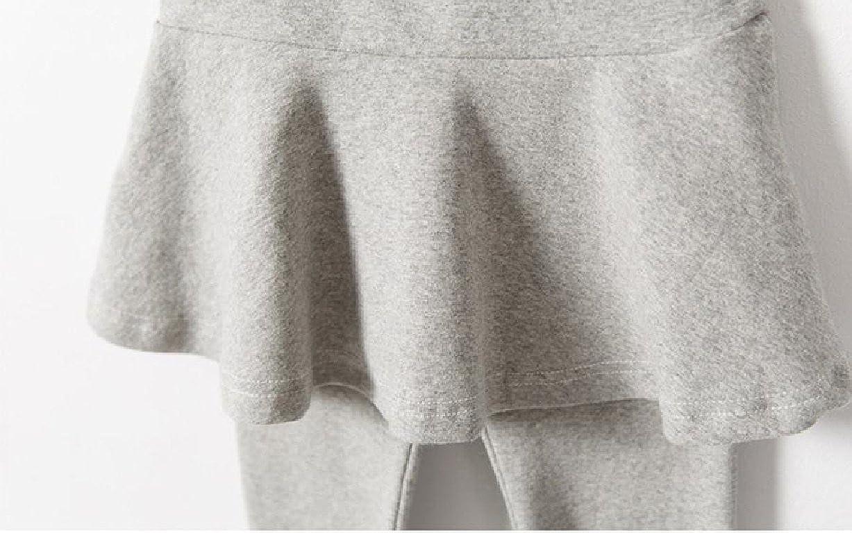 Pivaconis Girls 100/% Organic Cotton Fake Two Piece Skirt Pants Leggings