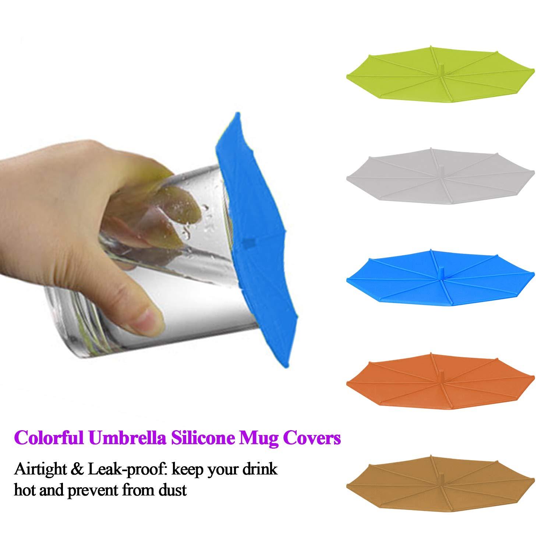 Adpartner - Tapas de silicona para tazas (5 unidades ...