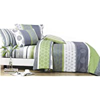 Artistic Doube/Queen/King/Super King Size Bed Doona/Duvet/Quilt Cover Set New (Double Size, Green)