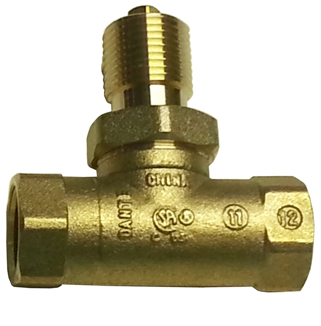 Dante Products 1/2- inch, Straight, Quarter-Turn Ball Valve