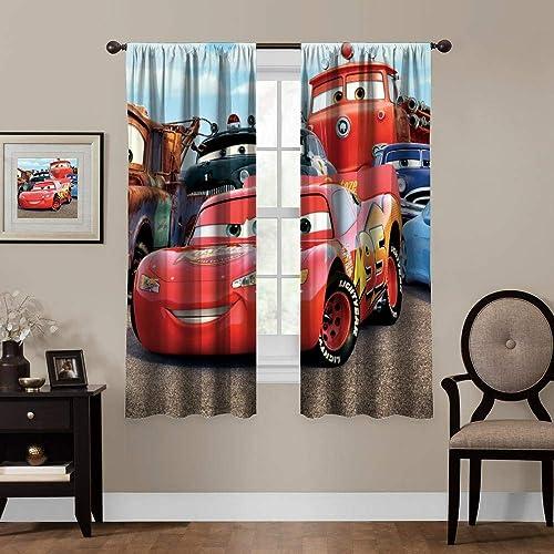 Blackout Curtains,Cars Lightning McQueen Sally Mater 3