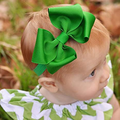 Newborn Bow Headband Baby Headband Cotton Fabric Bow Medium Bow Hb048