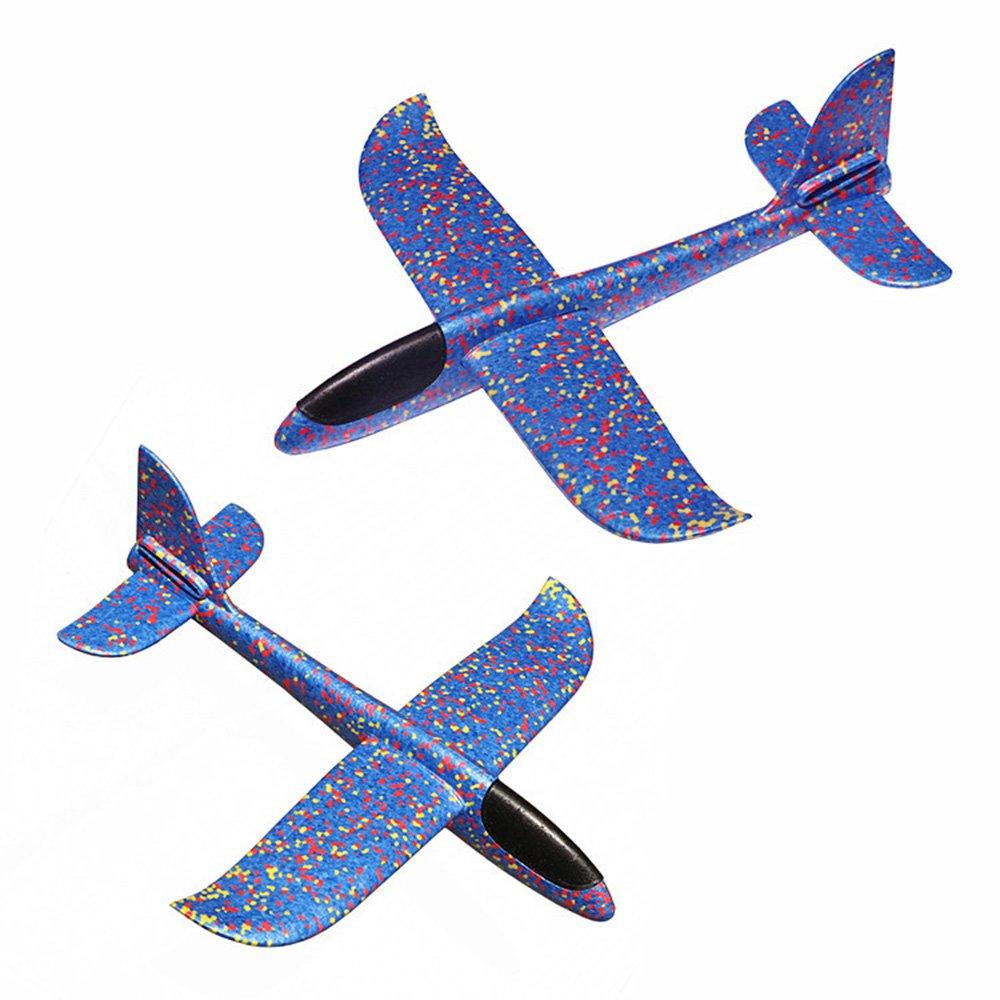 Blau + Rot + Orange Styroporflieger Outdoor Wurf Segelflugzeug Werfen Fliegen Modell- Skitic 3Pcs Kinder Gleitflug Flugzeug Spielzeug