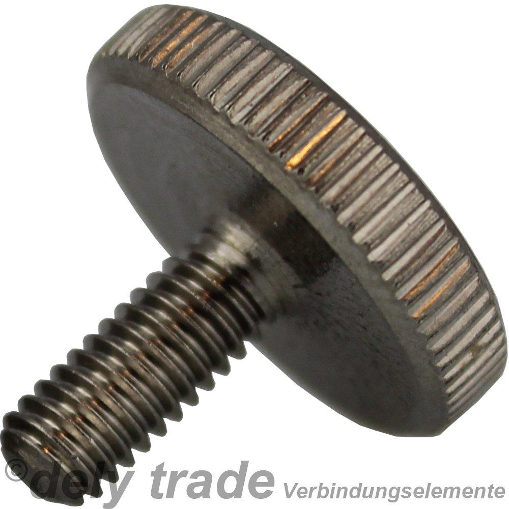 Forme DIN 653/Inox A2 Lot de 10/vis molet/ées m4/x 10/niedr