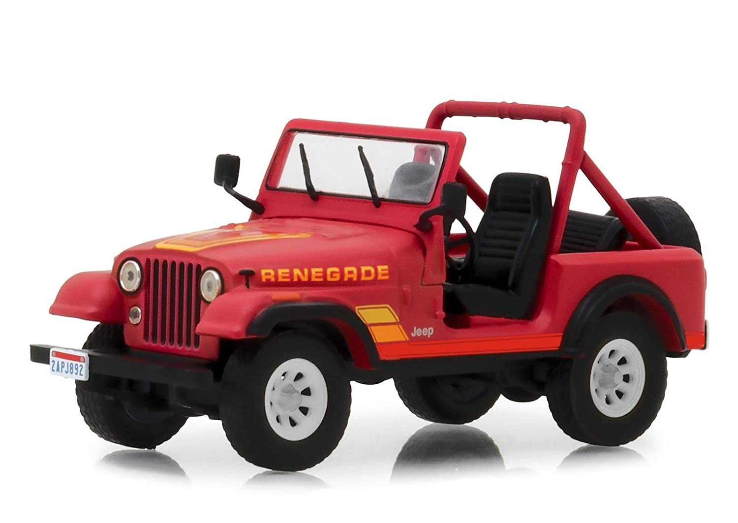 The Terminator True-to-Scale Detail Chrome Accents Real Rubber Tires Sarah Connors 1983 Jeep CJ-7 Renegade 1984 Authentic Movie Decoration Limited Edition
