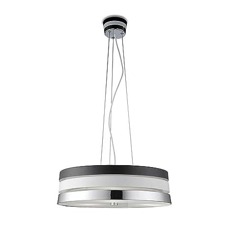 LEDs-C4 Cumbia lámpara de techo de bajo consumo de color negro, blanco satinado y cromado