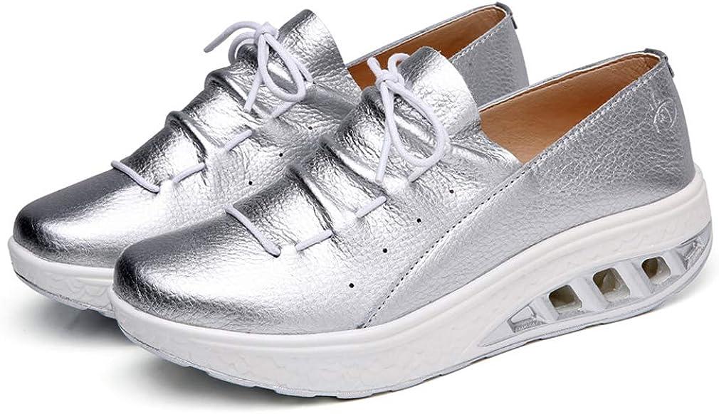 Solshine Damen Leder Plateau Sneakers Shape up Fitness Walkmaxx Turnschuhe