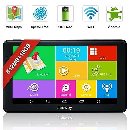 SATNAV Sistema de navegación GPS, pantalla táctil capacitiva Jimwey para coche, camión, camión, navegador por satélite, ...