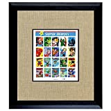 American Coin Treasures Super Heroes U.S. Stamp Sheet In 16x14 Wood Frame