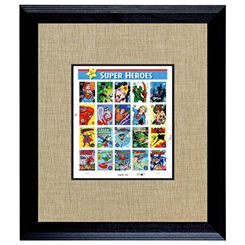 American Coin Treasures Super Heroes U.S. Stamp Sheet In 16x14 Wood (Super Heroes Stamp Sheet)