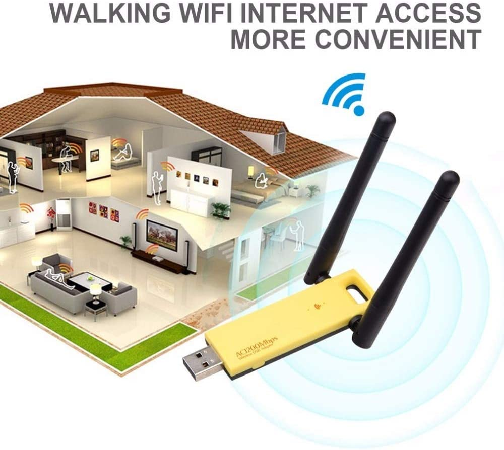 RTL8812AU Wireless USB Network Card 5Ghz 2.4Ghz Mini USB3.0 Wireless Adapter 1200mbps Dual Band Drop Shipping