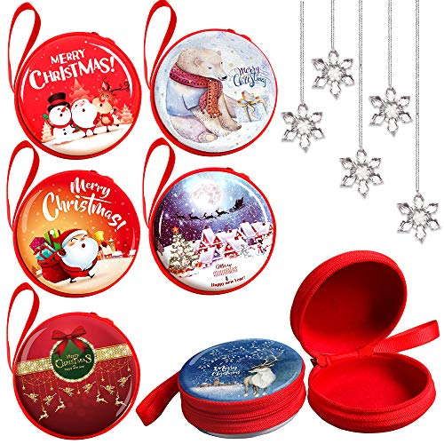 OWILER 16PCS 2018 Christmas Tree Ornaments Gift Bags and Snowflakes Decorations for Xmas - Merry Christmas Santa/Snowman/Bear/Elk