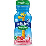 PediaSure Grow & Gain With Fiber, Kids' Nutritional Shake, With Protein, DHA, And Vitamins & Minerals, Strawberry, 8 fl…