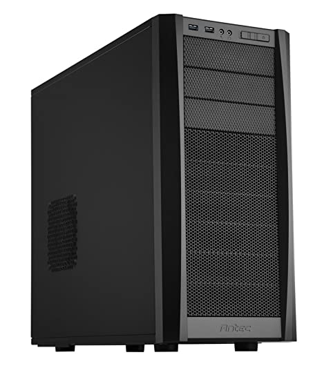 Antec Gaming Series Three Hundred Two Mid-Tower PC/Gaming Computer Case with 9 Tool-Less Drive Bays, 2 SSD, 120/140mm Fans x 2 Pre-Installed, 4 Fan ...