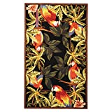 Safavieh Chelsea Collection HK296A Hand-Hooked Black Premium Wool Area Rug (6′ x 9′)