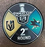 #4: The Hockey Company 2018 STANLEY CUP PLAYOFFS 2nd ROUND PUCK DUELING TEAMS GOLDEN KNIGHTS VS. SHARKS 2ND ROUND PRE-ORDER ITEM - SHIPPING BEGINS ON MAY 30TH LAS VEGAS SAN JOSE