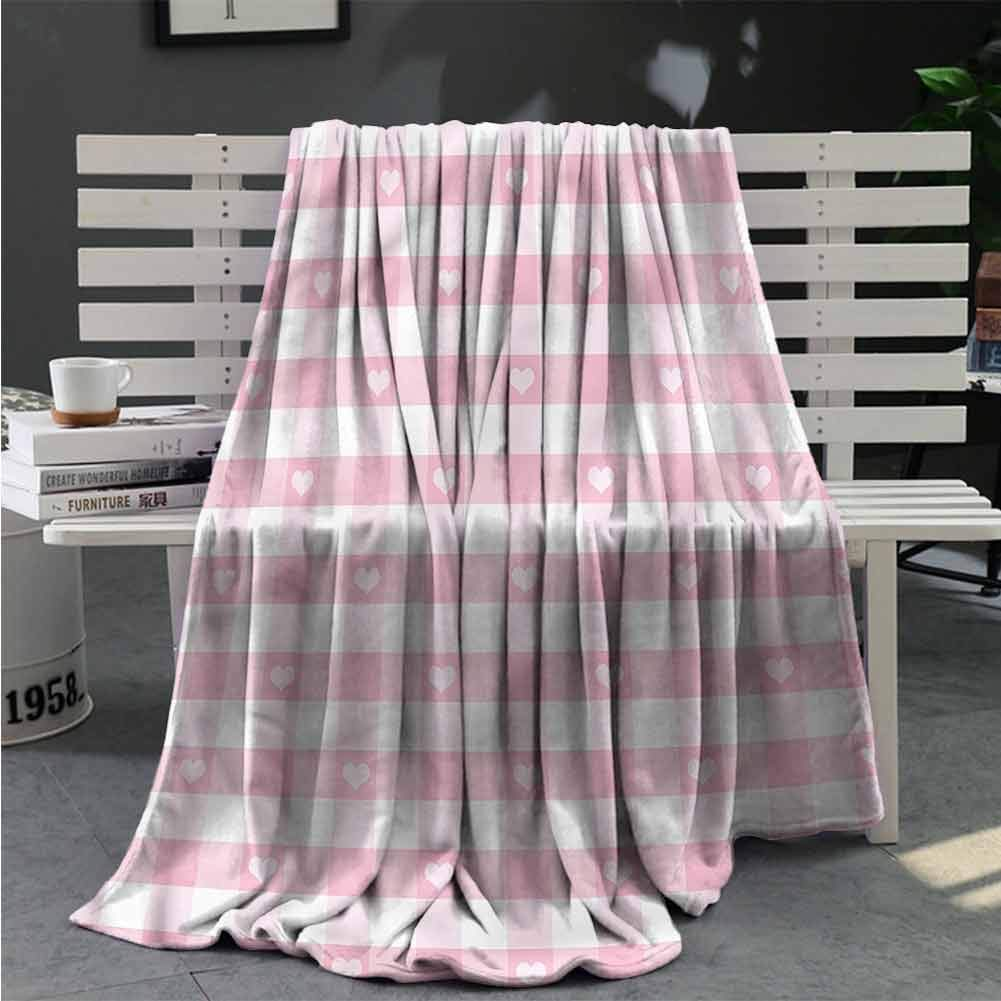 RenteriaDecor Checkered Throws Romantic Cute Kids Adult Blankets for Beds Sofa Great Gifts to Your Family,Friends,Kids 80X60 Inch