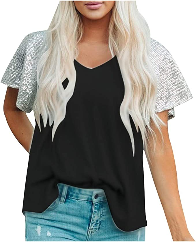 Easytoy Womens Leopard Short Sleeve T Shirt Casual Pattern Print Soft Lightweight Tops Blouse Pullover