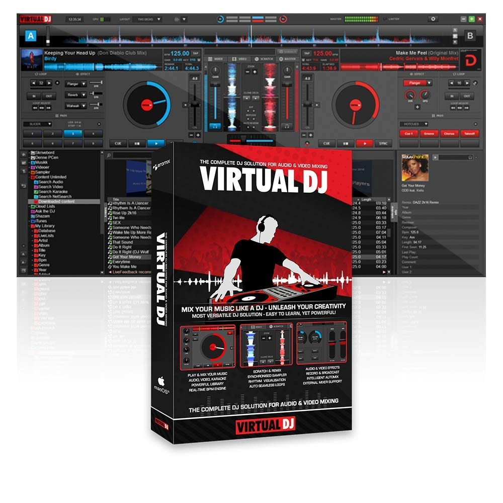 front facing virtual dj pro