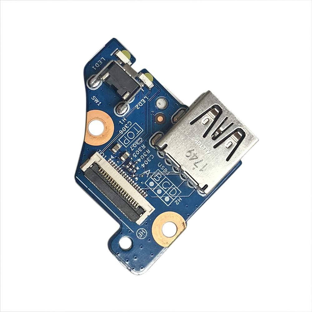 Zahara USB Port Power Button Board Replacement for HP Envy x360 15-CN 15m-cn Series 15m-cn0011dx P//N 448.0ED01.0011
