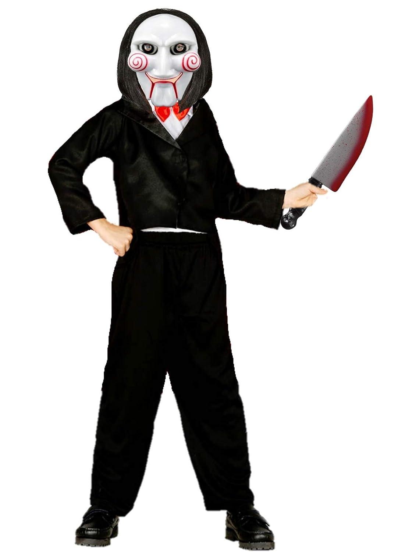 Disfraz de Marioneta Asesina Infantil (7-9 años): Amazon.es ...