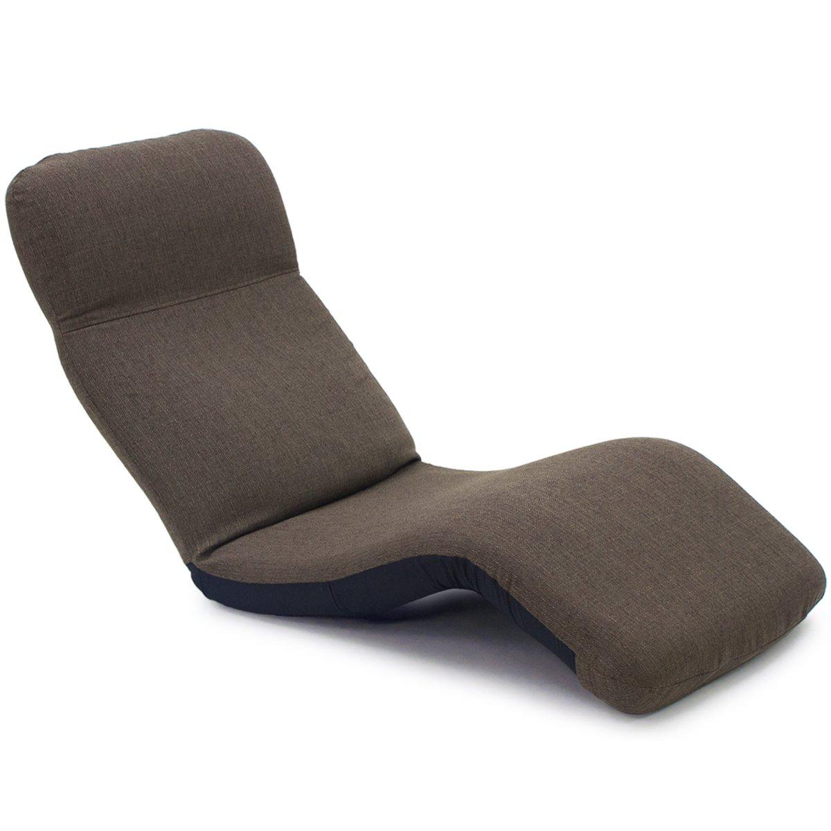 産学連携 中立姿勢でくつろげる 腰に優しいゆらゆら寝椅子 VISION (ヴィジョン) ブラウン 腰痛 日本製 リクライニング 姿勢 人気 B07DFYVP3M ヴィジョンブラウン ヴィジョンブラウン