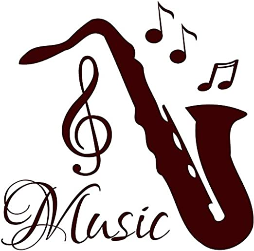Musical notes vinyl wall art stickers decor lounge bedroom home school decals
