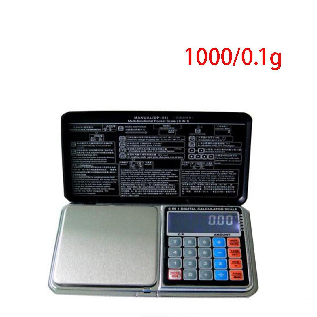 500//0.1g Digital Pocket Ma/ßstab Mehrzweck Jewelry Waage Elektronische K/üchenwaage Taschenrechner Funktion 3