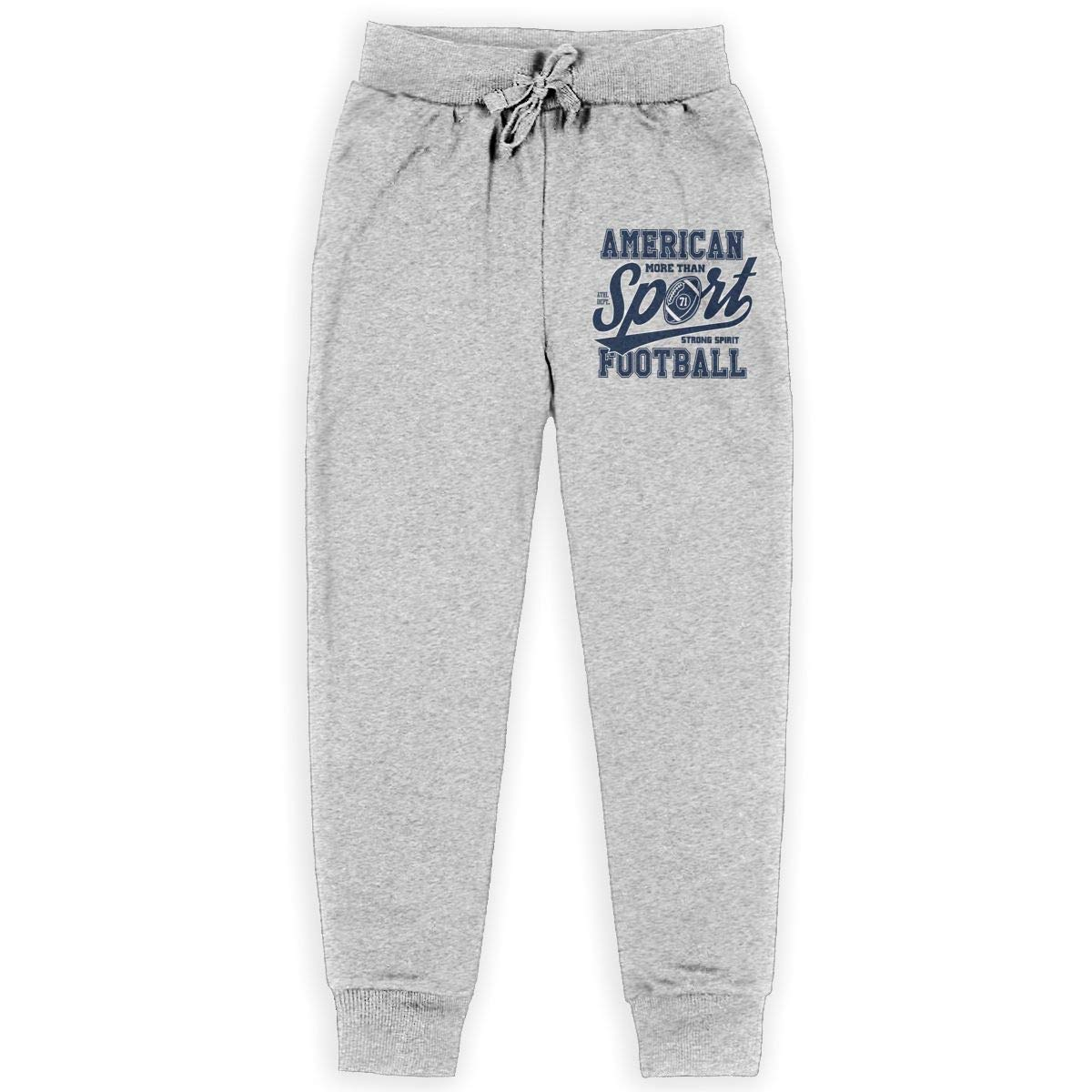Xinding Boys Cotton Jogger Sweatpants American Football Stylized Adjustable Waist Pants with Pocket