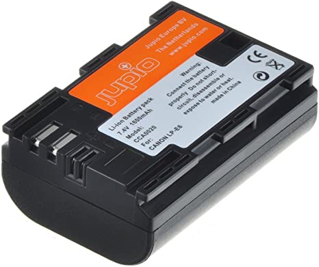 Jupio CCA0020 - Batería para cámara de Fotos Equivalente a Canon LP-E6/Chip NB-E6 (Lithium Ion, 1700 mAh): Amazon.es: Electrónica