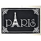 Hand-knit Paris Eiffel Tower 100% Wool Carpet Area Rugs for Living Room Pastoral Style Carpet